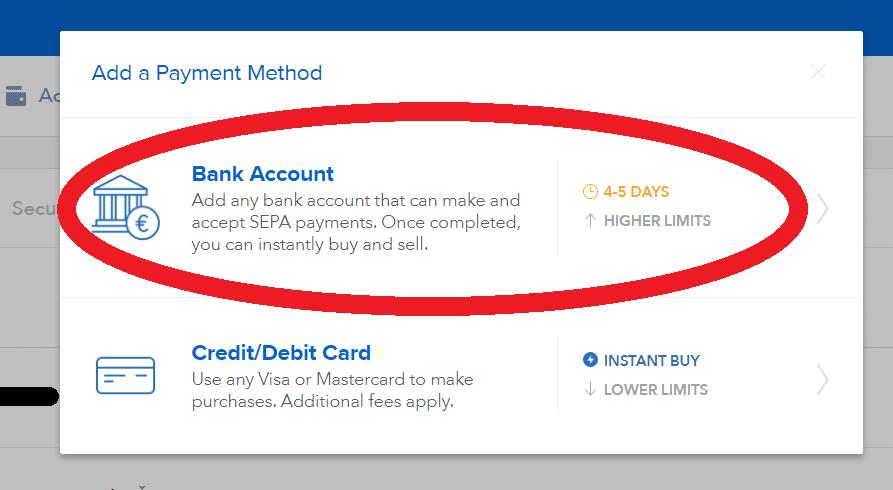 coinbase-bankovní-převod