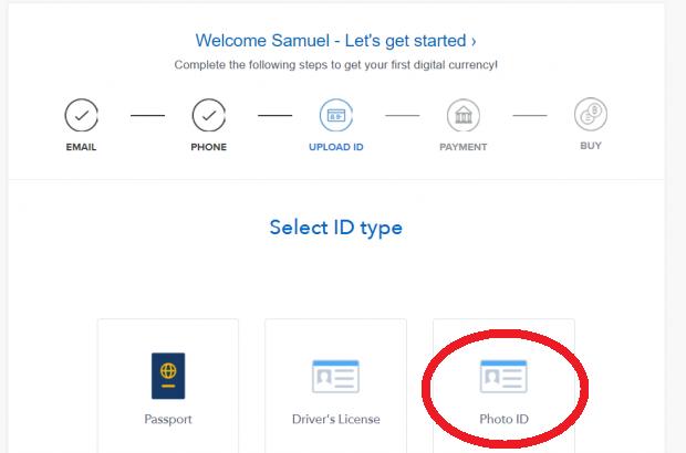 coinbase verifikace občanka