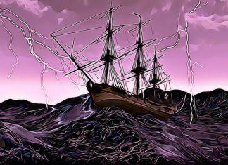 Loď na moři - kryptoměny