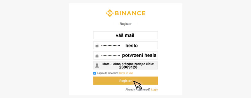 Binance účet