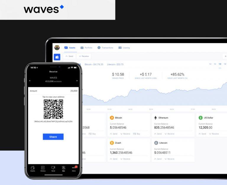 Bezpečná, rychlá, levná peněženka – Waves Wallet [NÁVOD]
