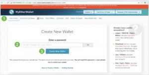 Vytvoření peněženky MyEtherWallet