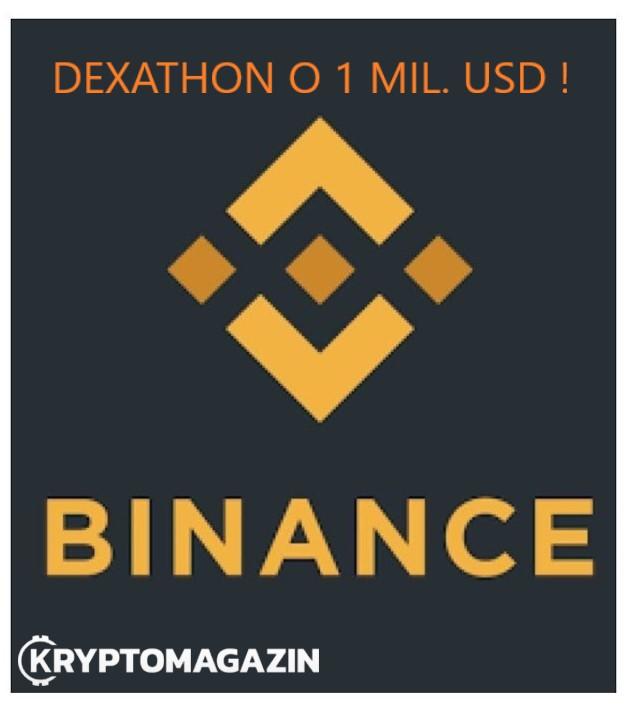 Binance spouští soutěž Dexathon o jeden milion USD