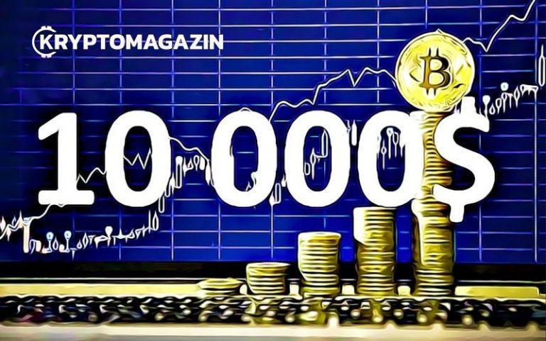 Jakmile cena BTC prolomí hranici 10 000 USD, čeká nás 15 000 USD