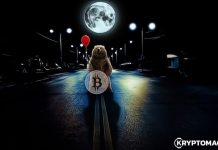 Bitcoin, měsíc, tma