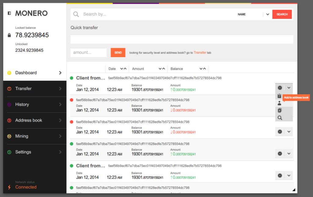 Monero desktop GUI
