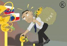 dluh, ČR, SR