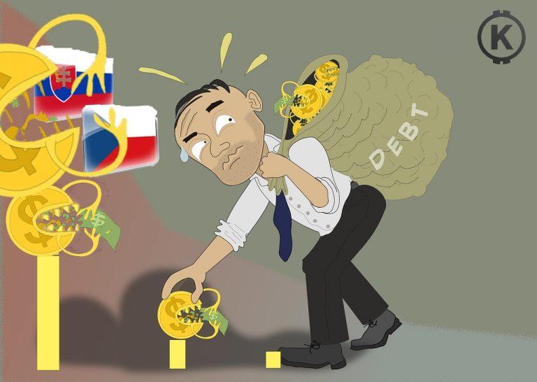 [Finance] Růst zadluženosti Slovenska je alarmující, ČR loni mírně v plusu, domácnosti bankrotují