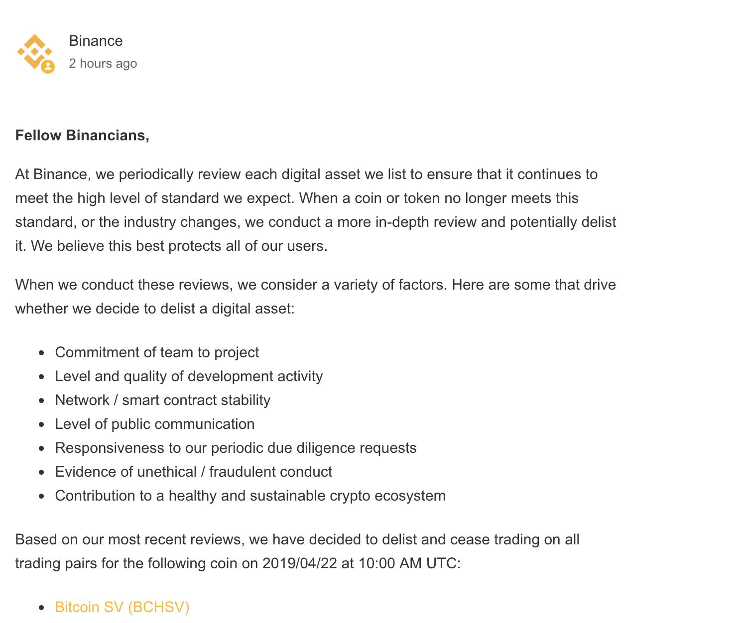 bitcoin-sv-delist