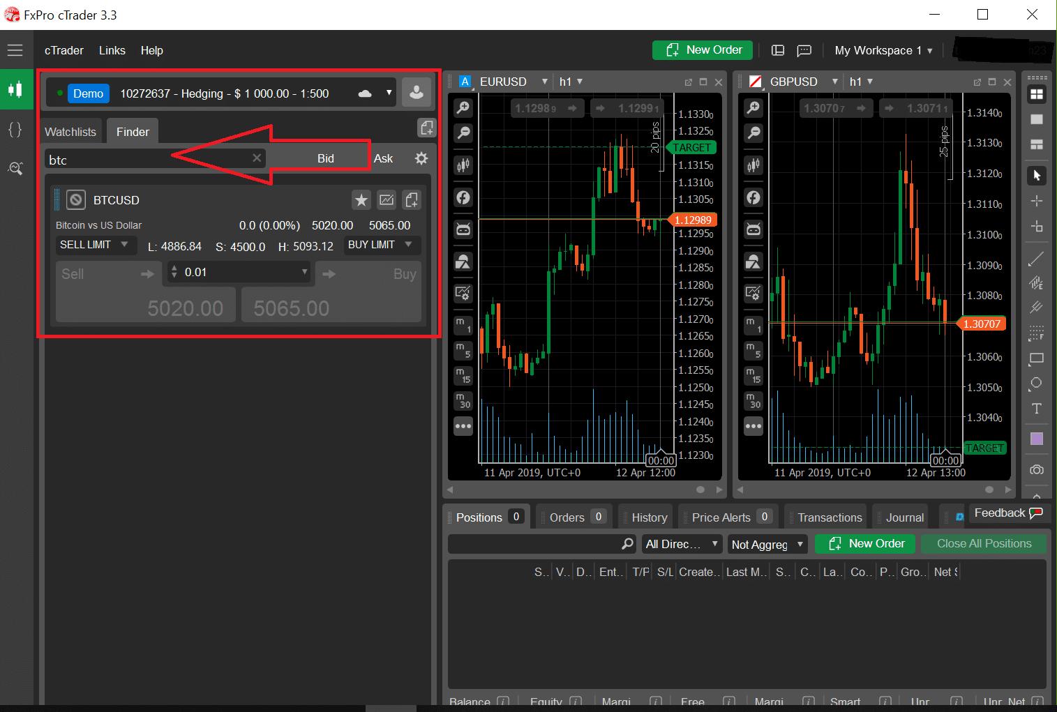 icmarkets, obchodování, bitcoin, futures