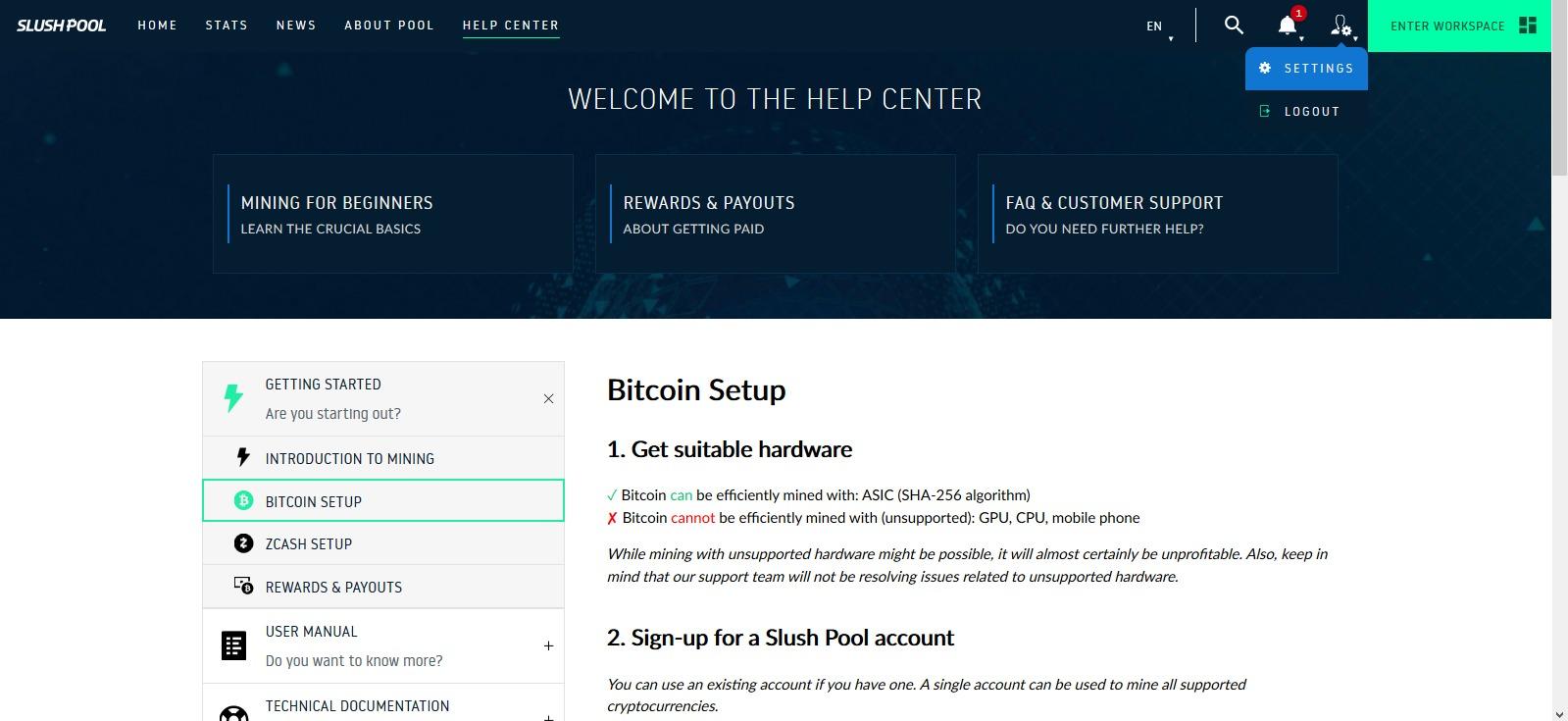 Slushpool, [NÁVOD] – Ako ťažiť Bitcoin alebo Zcash na SlushPoole