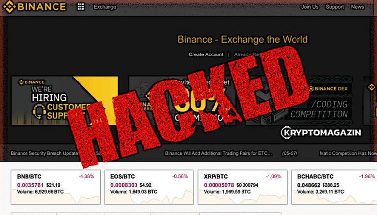 Hackeři si z burzy Binance odnesli 7000 Bitcoinů – co se děje?