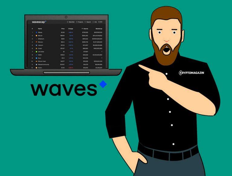[Zajímavost] Kryptoměny na Waves Dex mají nyní svůj coinmarketcap!