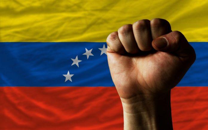 vlajka venezuela vzdor revoluce