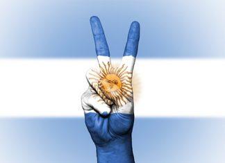 ruka, vlajka, Argentina