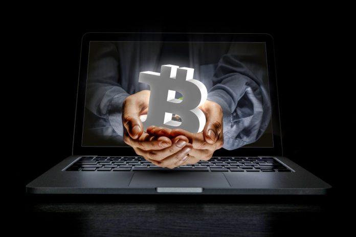 bitcoin, instituciální, ruce, monitor, kapitál