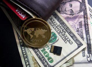 ripple, peněženka, bankovky