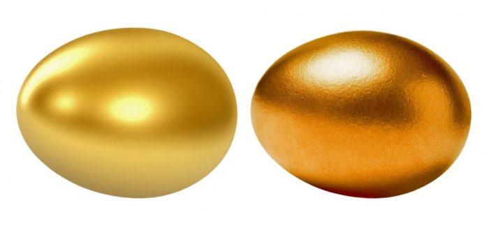 vejce, zlato