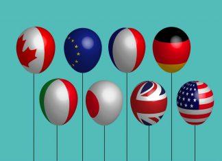 G8, flags, vlajky