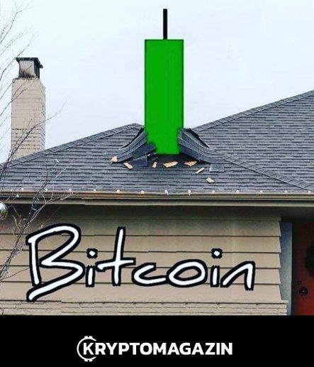 bitcoin, cena, trend, meme