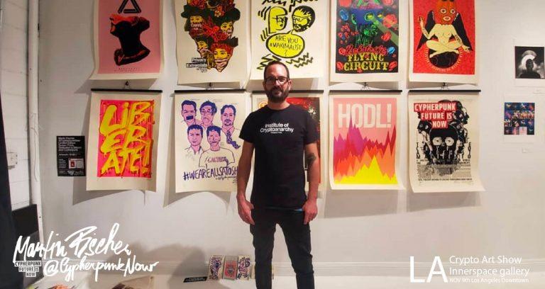 Pražský umělec úspěšně draží elektronické obrazy v aukcích