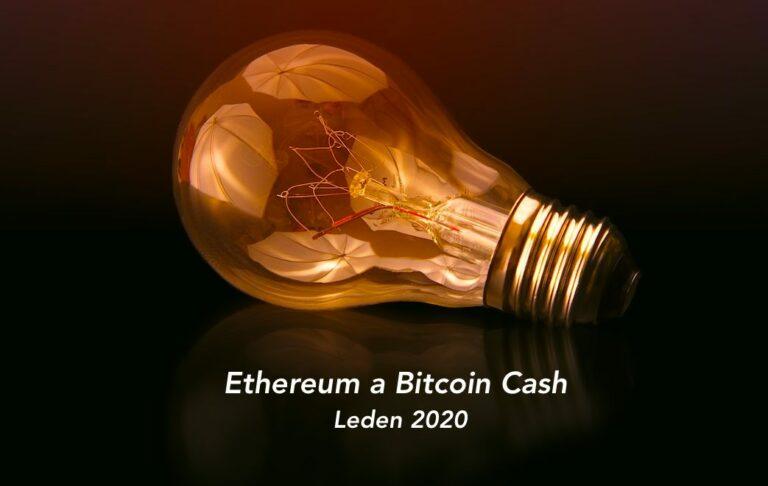 """24.01.20 Technická analýza [ETH a BCH]: Bitcoin Cash DUMP z 400 na 300 USD. ETH """"jen"""" 13% propad"""
