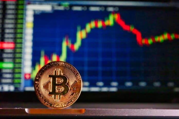 mince, Bitcoin, graf