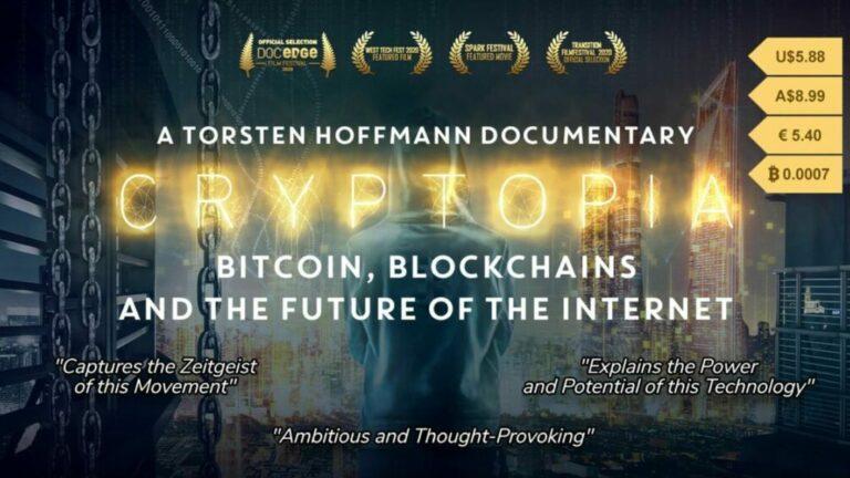 Nový film Cryptopia ukazuje přístup člověka k Bitcoinu, blockchainu a budoucnosti internetu