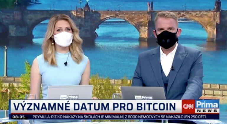 Bitcoin halving probírali v nové TV CNN Prima