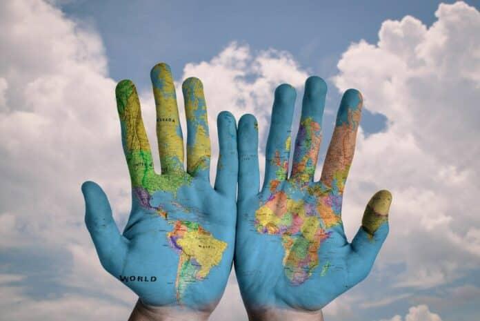 svet world dlane hands staty zeme