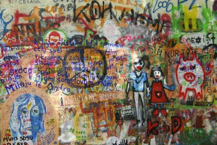 graffit street art wall