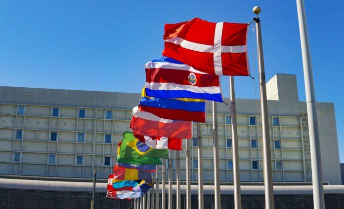 vlajky, mezinárodní