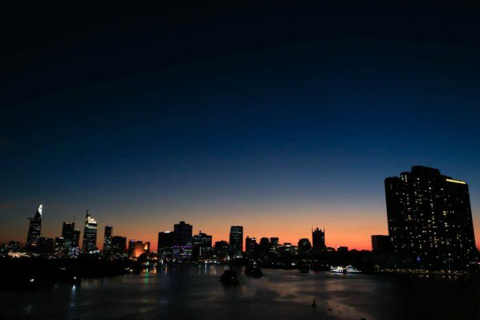 večer, souhrn, noc, město