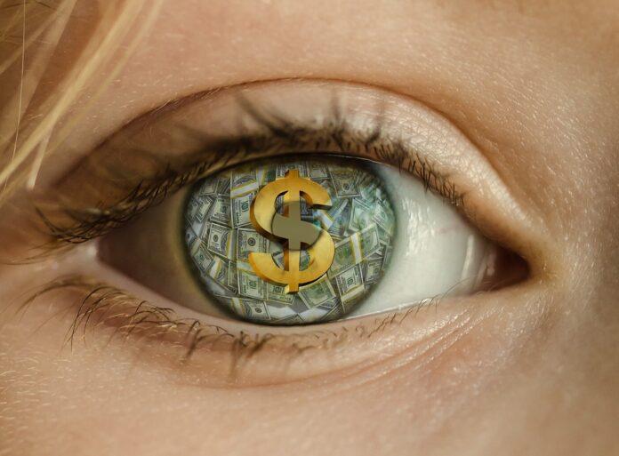 dolar chamtivost money penize