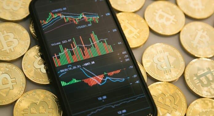 btc cena bitcoin graf obchodovani