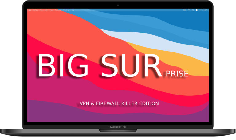 Apple Big Sur blokuje Firewall i VPN – náš zákazník, náš pán už neplatí