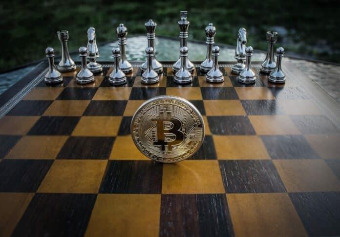 cryptocurrency kryptoměna bitcoin sachovnice