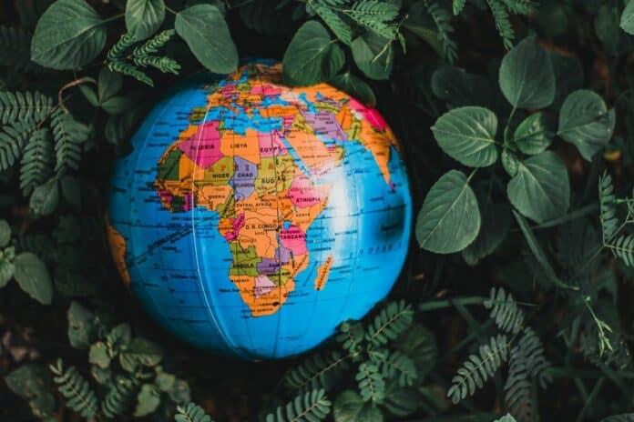 afrika kontinent globus nigérie společnost