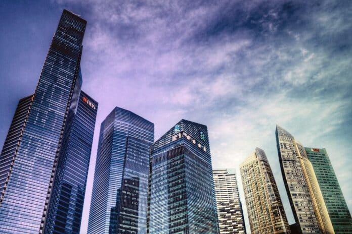 banky budovy obchod finanční centrum banka
