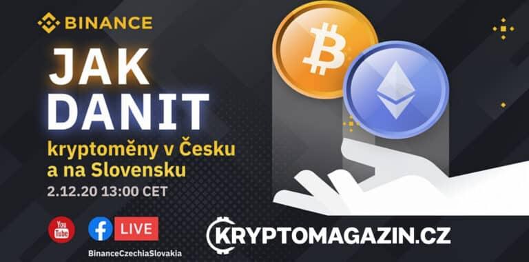 Spolu s Binance organizujeme zítra (2.12. 13:00) online event o zdanění kryptoměn v ČR a SK – co krypto a finančák?