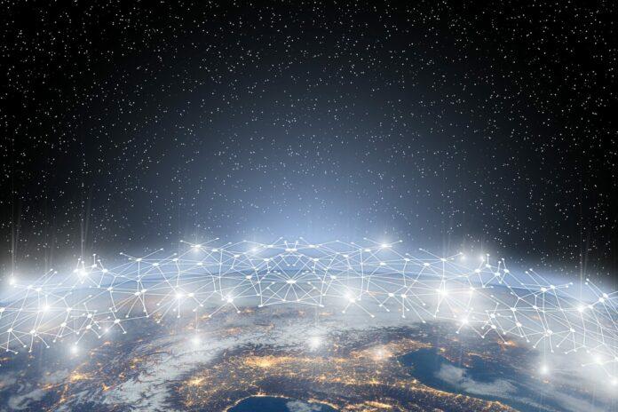 blockchain, globe, země
