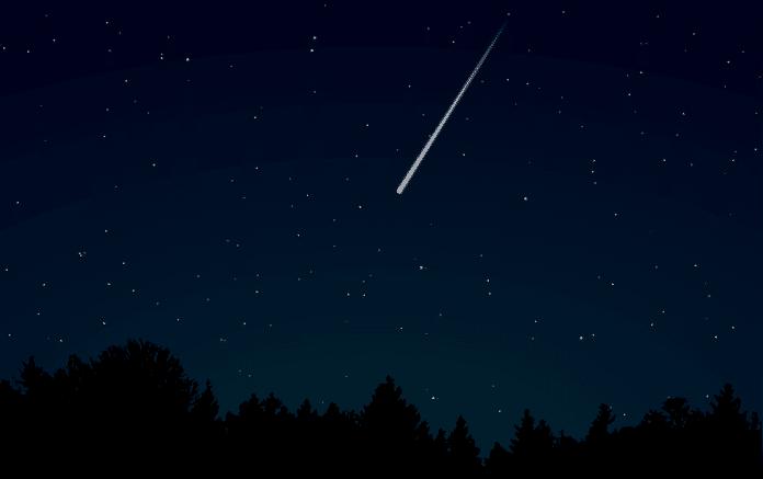 obloha temna tma hvezda padajici