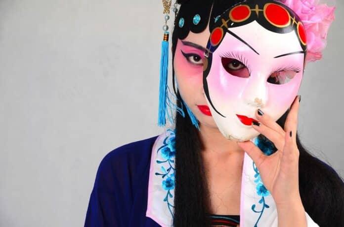 peking opera čína maska škraboška
